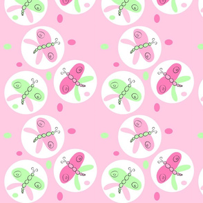 butterfly-limepink-circle