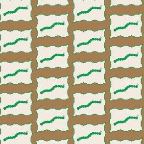 Bordered Caterpillar Madness in brown and green