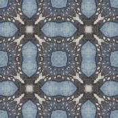 Blue denim Batik