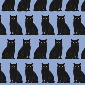 cat black cat pastel blue purple cute cats cat lady fabric cat lady design sweet kitten