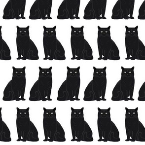 cat black and white cat lady cat head cute cat fabric