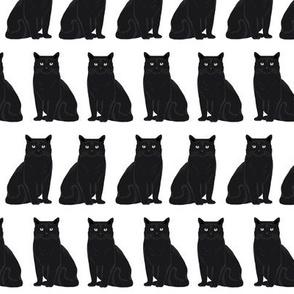 cat black and white cat lady cat head cute cat fabric