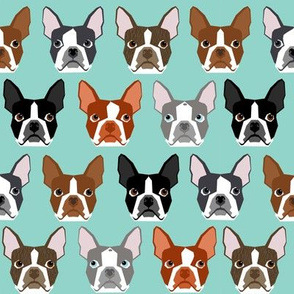 boston terriers grey red standard cute dog dogs pet pets dogs fabric