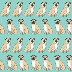 pug sweet dog dogs puppy pugs mint sweet kids nursery baby dog print