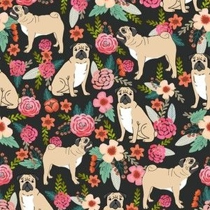 pug flowers florals pugs pet pet dog dogs cute pugs flowers