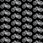 "Vintage Motorcycles in Grey & Black (2"")"