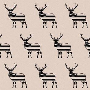 """Rustic American Deer (2"""")"""