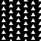 Black with White Triangles - Black Triangles
