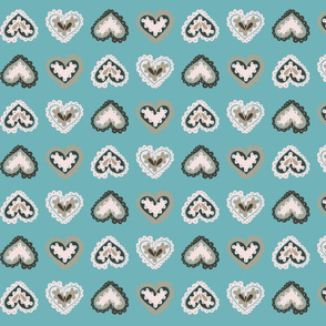 Blue Cookie-Cutter Hearts
