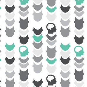 Chevron | Gray Turquoise