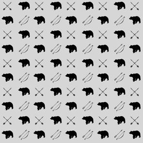 Bear and arrows // fog