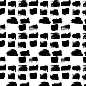 Scandinavian style raw brush strokes geometric abstract design black and white