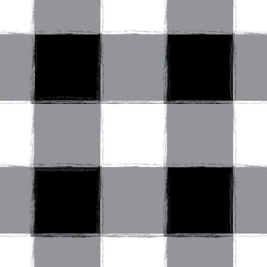 Large Black Buffalo Check Gingham