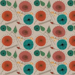 Mid-Century Modern Floral