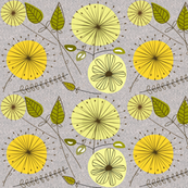 Mid-Century Modern Yellow Floral