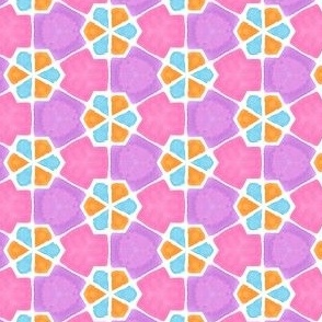 Interlocking Triangles Geometric Water Color Kaleidoscope