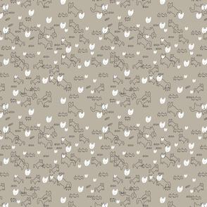 Cat Pattern  Grey-ed