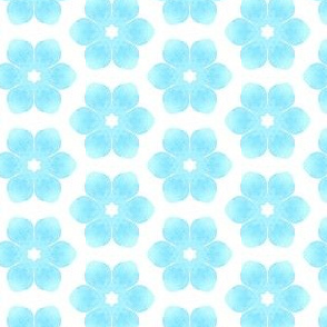 Snow Flowers  - Winter Themed Water Color Painting Patern