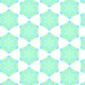Spring Hexagons WaterColor Painting Pattern