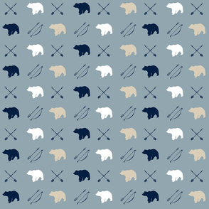 Bear and arrows // Rustic Woods Collection