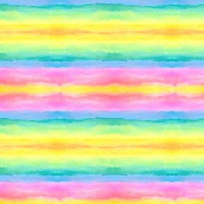 Rainbow Race Water Color Painting Pattern