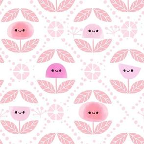 Mod Flowers - Pink (BIG)
