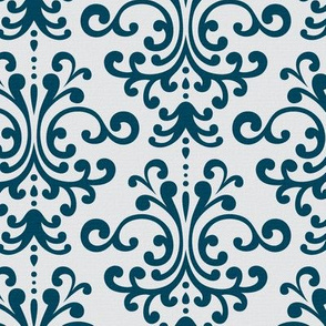 Holiday Damask Blue