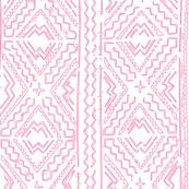 pink mudcloth mud cloth on white