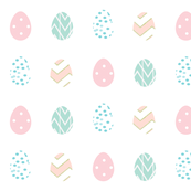 Pastel Patterned EGGS Easter