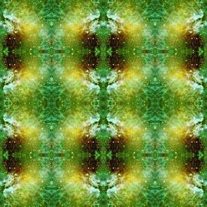 ELECTRIC PLANET GOLD GREEN  GALAXY NEBULA