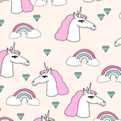 unicorn // sweet rainbow unicorn jewels pink pastel champagne off-white cream cute unicorn