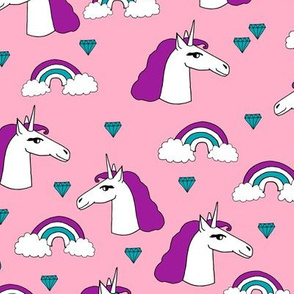unicorn // unicorns pink and purple girls rainbow sweet little girls pastel purple