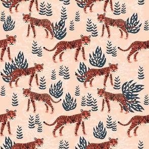 safari tiger // blush coral tropical blush kids