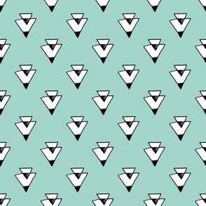 triangles // mint southwest triangles kids coordinate baby nursery simple