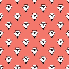 triangle // coral triangles southwest baby kids nursery southwest tri baby coral
