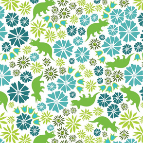 Dinosaur Flower white background