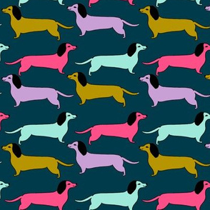 dachshund // dog pet fabric dogs cute bright fabrics
