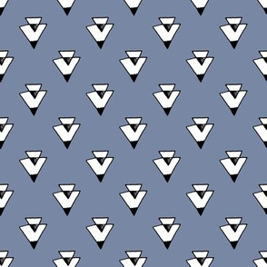 triangles // southwest triangles blue kids nursery baby triangles kids