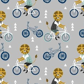 lion bicycle // bicycle boys lion animal mint grey blue kids boys