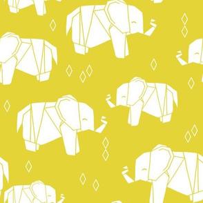 Origami Elephant - Yellow