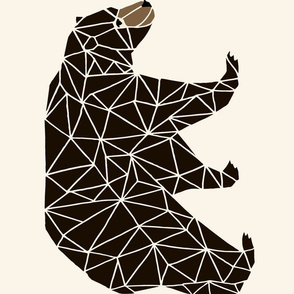 geo bear // plush plushie cut and sew bear cute bears geometric andrea lauren