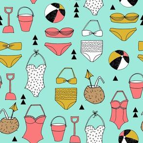 beach // summer swim suit bathing suit swimming bikini cute girls beach ball
