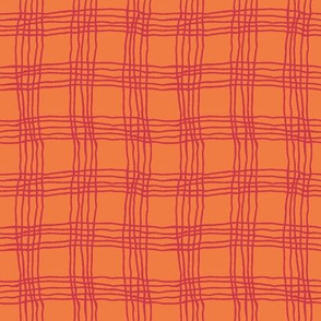Spring plaid - small - red