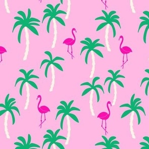 palm trees // palms palm print tropical pink flamingo kids summer exotic