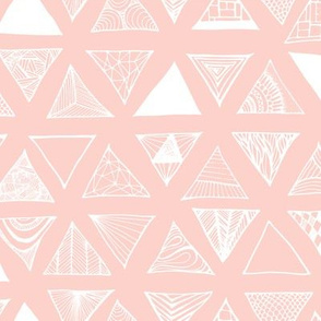 Triangle Doodles Pinkish