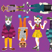 some hipster cats for dollcraftin'