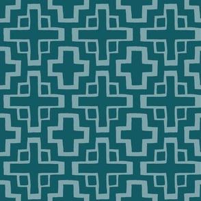 mosaic pool tile in ocean blue/pool blue