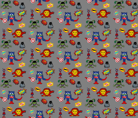 Alien super heroes fabric cariannehamilton spoonflower for Alien fabric