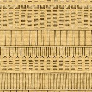 Inuit Tattoo on brown stripe
