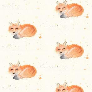 Fox Watercolor Larger